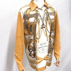 "🆕 Hermes "" Brides de Gala"" Silk/cotton Shirt 👘"
